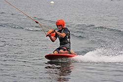Kneeboard beim Anfängerkurs Wake and Beach