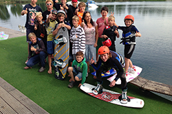 Gruppenfoto Kidscamp Woche Wake and Beach